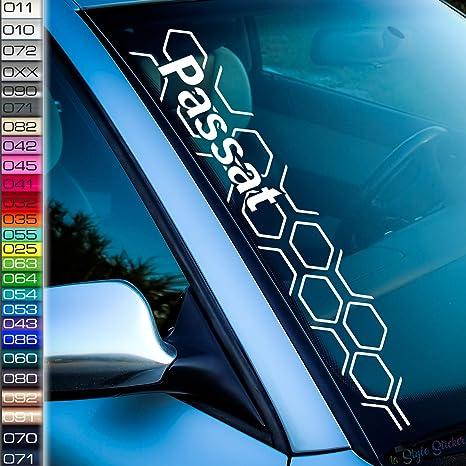 Kompatibel Mit Vw Passat Aufkleber Wabenmuster Frontscheibenaufkleber Volks Wagen Sticker Autoaufkleber Tuningsticker