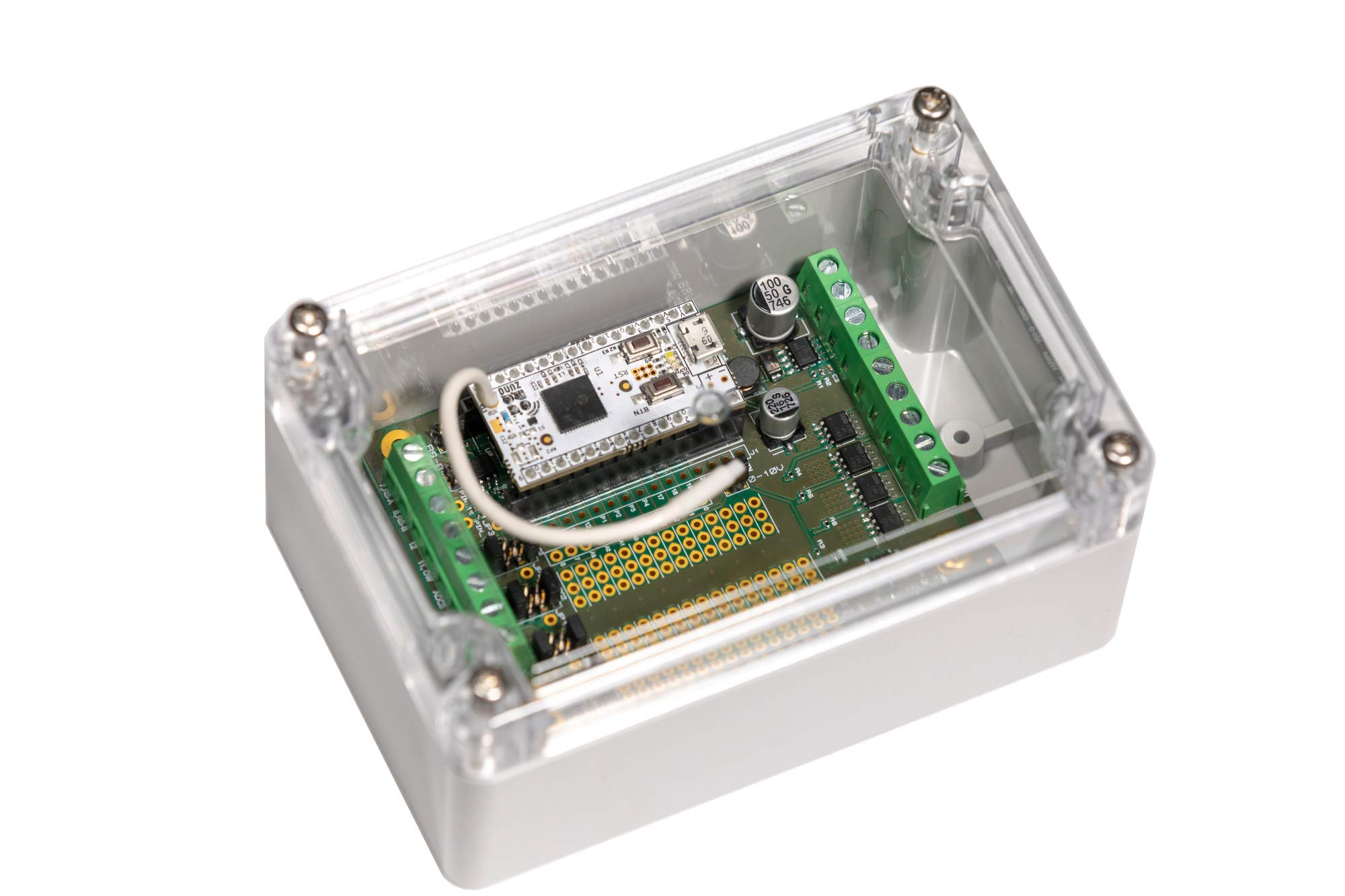 Z-Uno Shield in sealed case - The universal Z-Wave module in IP65 sealed case