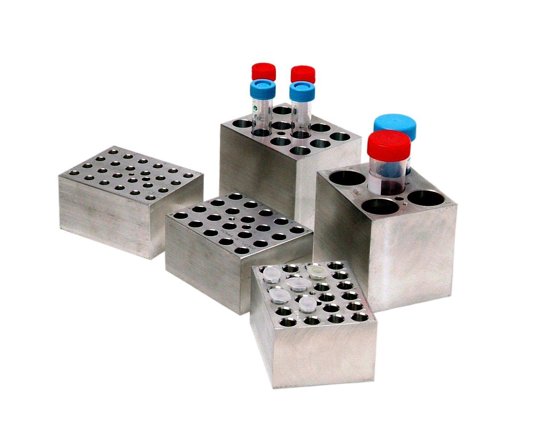 Benchmark Scientific BSW50 Aluminum Dry Bath Heating Block for Digital Dry Bath Incubator, 5 x 50mL Centrifuge Tubes Capacity by Benchmark Scientific