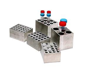 Benchmark Scientific BSW50 Aluminum Dry Bath Heating Block for Digital Dry Bath Incubator, 5 x 50mL Centrifuge Tubes Capacity