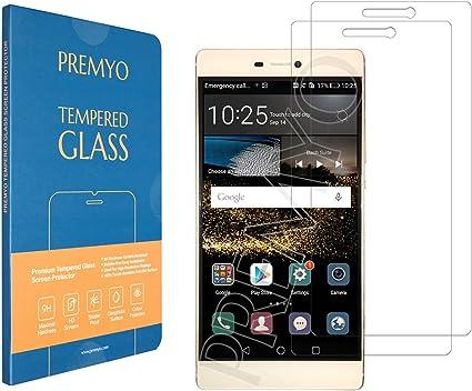 PREMYO 2 Piezas Cristal Templado para Huawei P8 Protector Pantalla ...