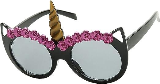 ShadyVEU Unicorn Horn Round Sunglasses Children Toddler Kids UV Protection Age 2 to 8 Cute Small Fashion Shades