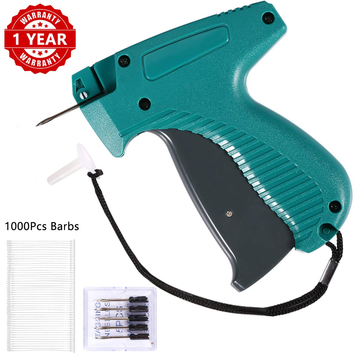 Price Tag Gun, Standard Attacher Tagging Gun for Clothing Clothes Labeler with 6 Needles & 1000pcs Barbs Fasteners & Organizer Bag by Acehome