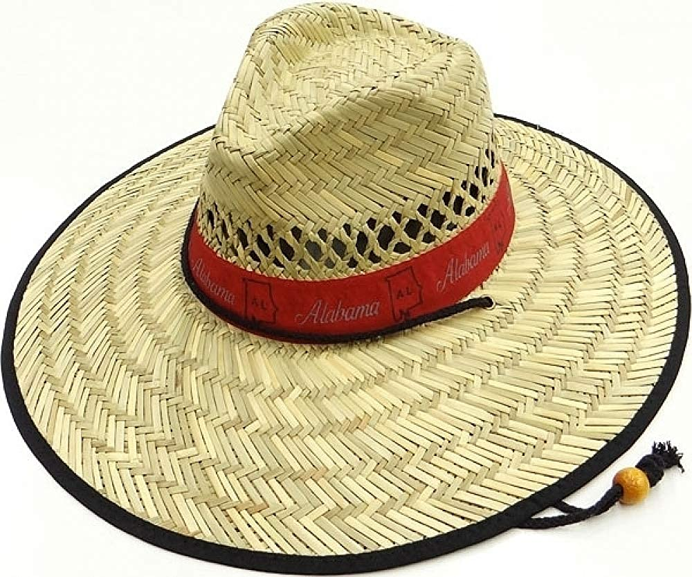 Cultural Exchange Alabama Wide Brim Mens Straw Hat