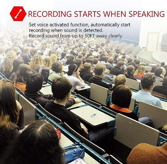 Unterricht Digital Recorder Tragbarer Diktierger/ät Voice Recorder Meetings Integriertes Mikrofon 32 GB Audio Digitales Rekorder mit Rauschunterdr/ückung Wiederaufladbar USB f/ür Zeitschriften
