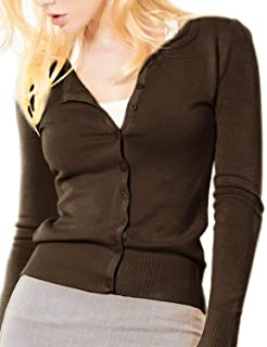 0625591cf2 GOLDSTITCH Women Long Sleeve Button Down Soft Knit Cardigan Sweater ...