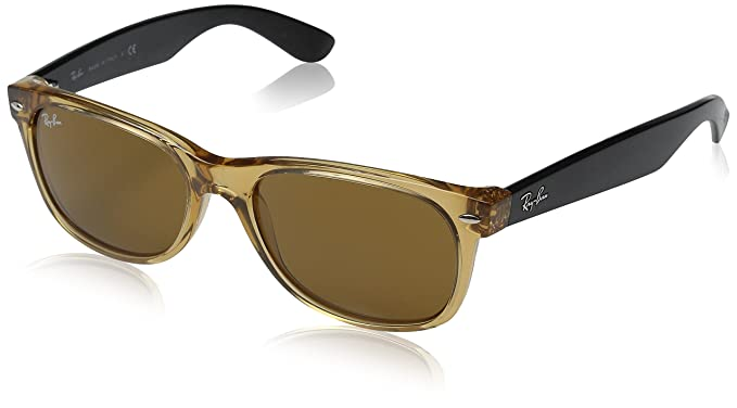 1e6137bf09 Image Unavailable. Image not available for. Colour  Ray-Ban New Wayfarer  RB2132-0 Honey B15 XLT Sunglasses