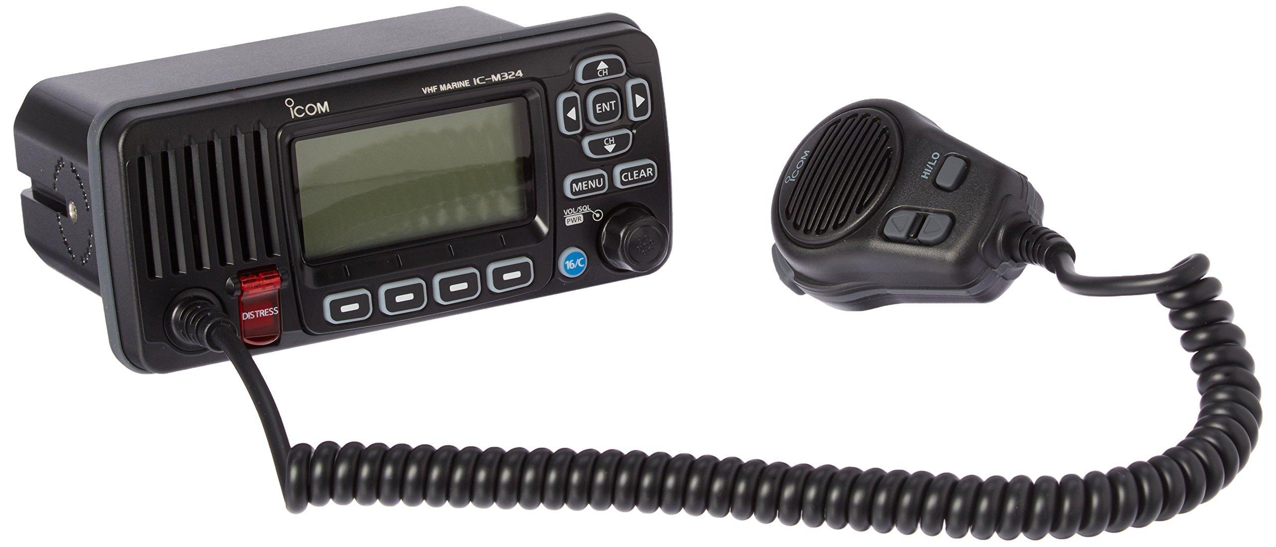 ICOM IC-M324 01 Fixed Mount VHF Radio - Black