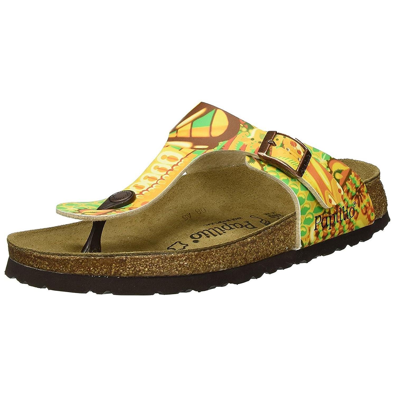Papillio Womens by Birkenstock Gizeh Synthetic Sandals B073YQKKM8 7 B(M) US Women / 5 D(M) US Men African Wax Gold