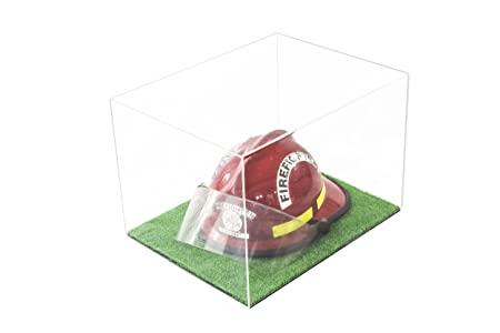 Versatile Deluxe Clear Acrylic Display Case – Large Rectangle Box with Turf Base 18 x 14 x 12 A014-CTB
