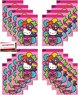 16 Pack Hello Kitty Party Plastic Loot Treat Candy Favor Bags (Plus Party  Planning Checklist ee3c02320615d