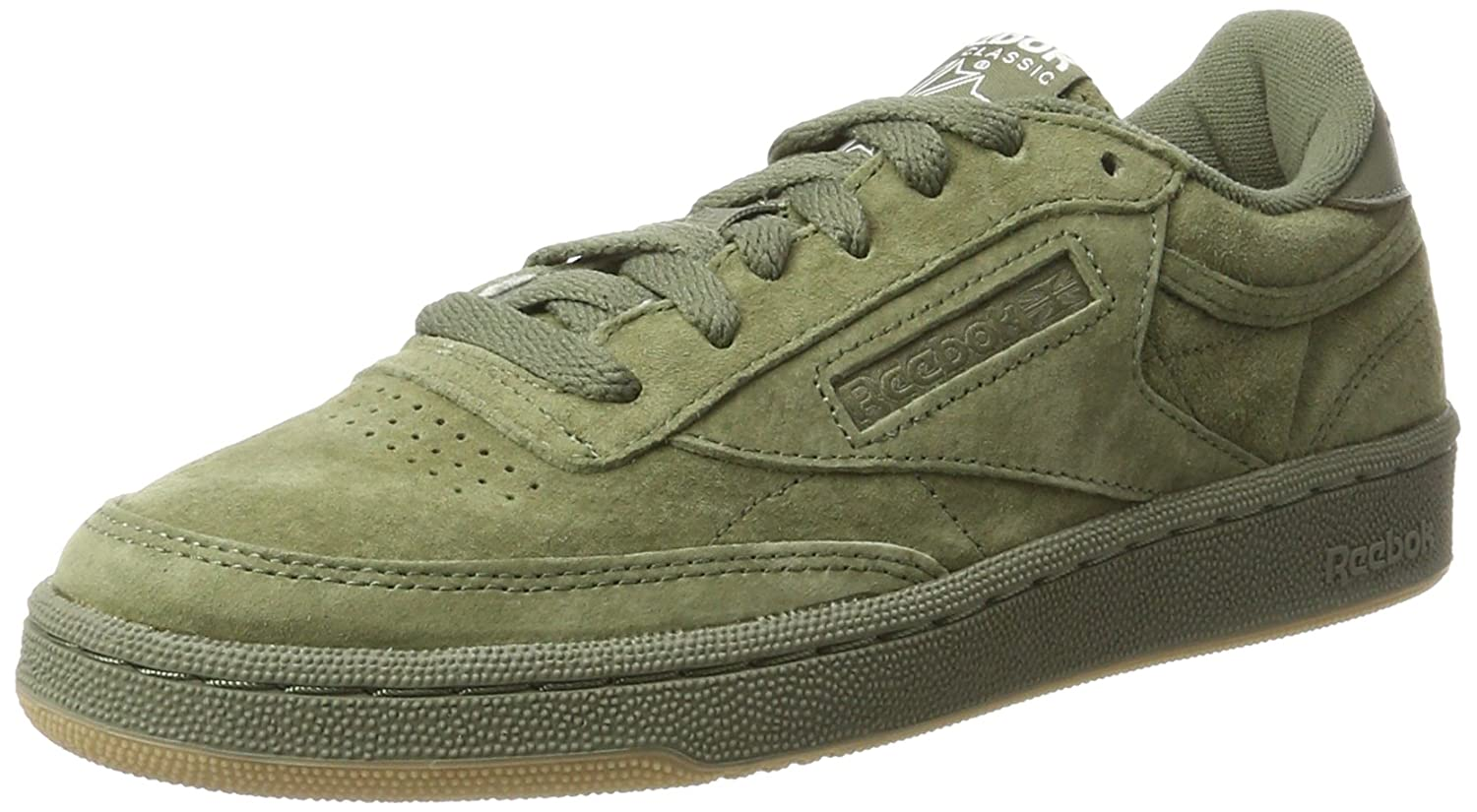 cdacd7b8de42df Reebok Men s Club C 85 Sg Hunter Green White-Gum Leather Tennis Shoes - 11  UK India (45.5 EU) (12 US)  Buy Online at Low Prices in India - Amazon.in
