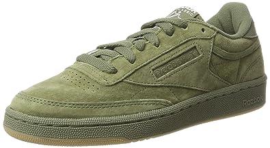 06b136d0cc5fd Reebok Men s Club C 85 Sg Hunter Green White-Gum Leather Tennis Shoes -