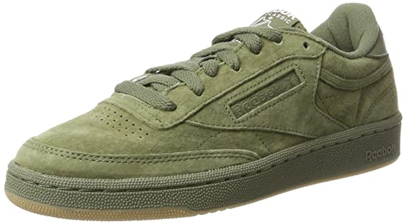 bae4be61d2ad8 Reebok Men s Club C 85 Sg Hunter Green White-Gum Leather Tennis Shoes - 11  UK India (45.5 EU) (12 US)  Buy Online at Low Prices in India - Amazon.in