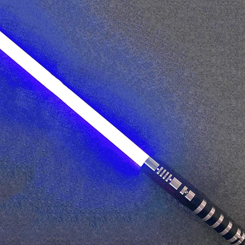 YLME Sable Luces Star Wars Que Brilla Intensamente Juguete Juguete Metal Extraíble USB Carga Ligera Láser Espada para Niños Brillante Regalo Juguete Cosplay Juguete,Azul,38.5Inches