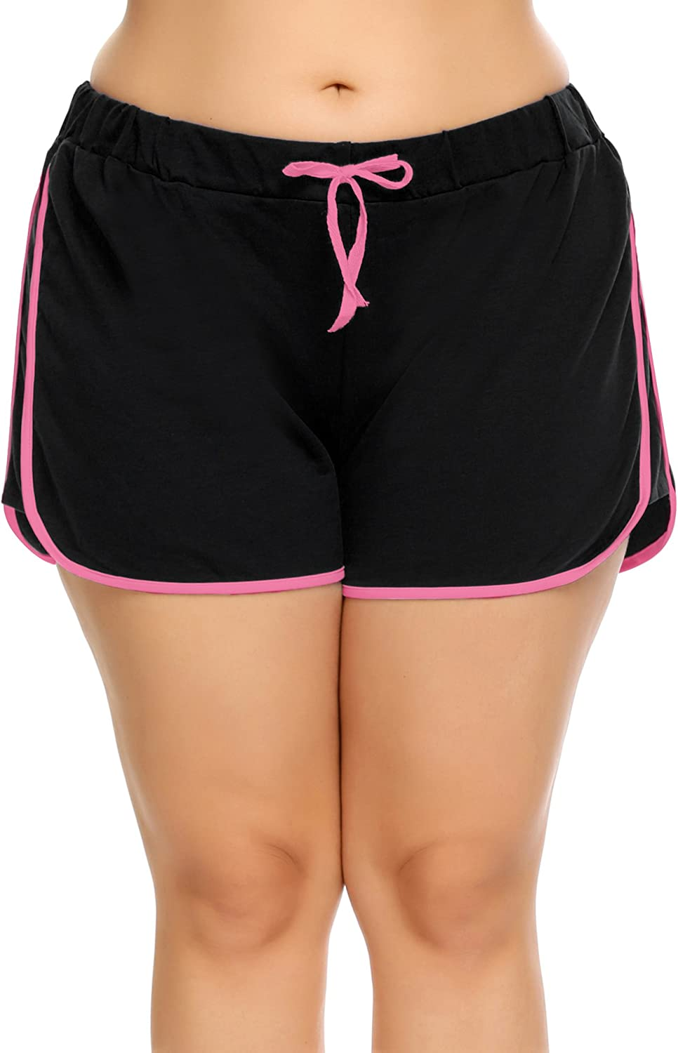 INVOLAND Women Dolphin Shorts Plus Size Running Short for Workout Gym Sports Active Yoga
