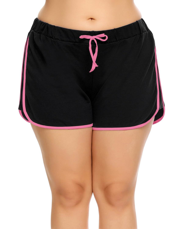 Zeagoo Women's Plus Size Running Active Sport Shorts Cotton Lounge Sleep Shorts(14~24W) AMH020085