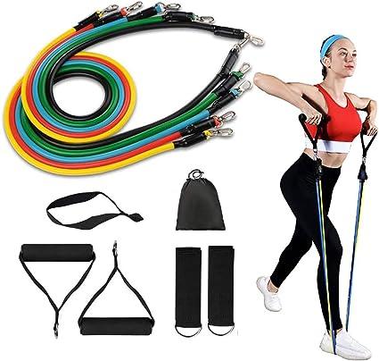 Pull Resistance Bands Foam Handles Slip-proof Fitness For Yoga Sport Exercise