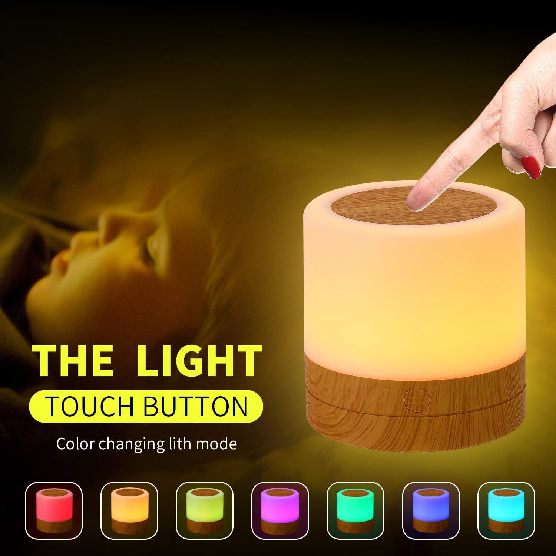7 Farben Touch Control Nachttischlampe Bestes Geschenk f/ür Kinder Wiederaufladbare Lithiumbatterie Freunde yeazol Mini LED Tragbarer Nachtlicht mit Fernbedienung