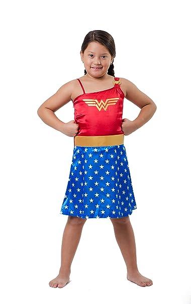Amazon.com: DC Comics Big Wonder Woman de las niñas Strappy ...