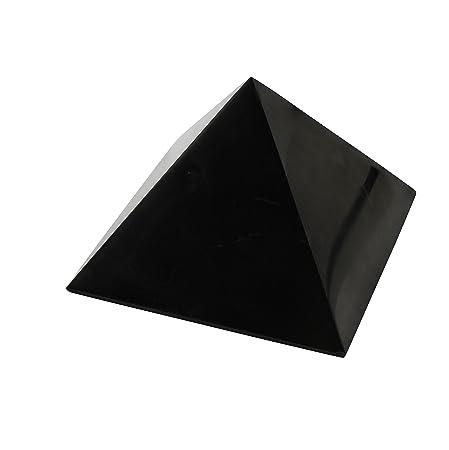 Shungite Polished Pyramid 2 inch (5 cm) Natural Stone Chakra Crystal  Healing Energy Karelia Russia