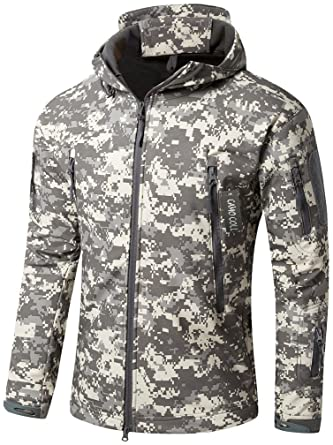1e897006fb58d Camo Coll Men s Outdoor Soft Shell Hooded Tactical Jacket at Amazon Men s  Clothing store