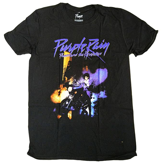 Amazon.com  Prince T Shirt - Purple Rain 100% Official Full Colour ... 8611486ef78