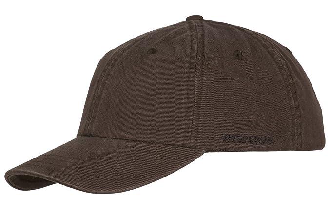 Stetson Rector Cotton Adjustable Baseball Cap (Brown)  Amazon.co.uk ... 07437630315