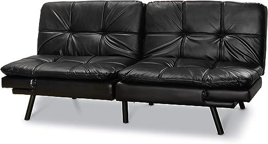 Amazon.com: Mainstay.. futón de espuma viscoelástica, gamuza ...