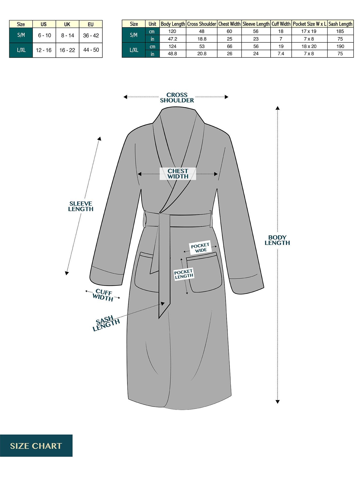 Deluxe Women Fleece Robe with Satin Trim | Luxurious Plush Spa Bathrobe Waffle Design by PAVILIA (Image #9)