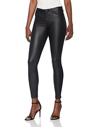 594abf5dd471 Vero Moda Women s Vmseven Nw Ss Smooth Coated Pants Noos Trouser ...