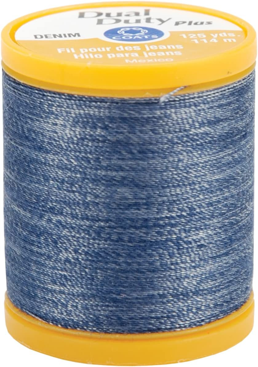 Denim Blue 2 Pack Coats /& Clark S976-4665 Dual Duty Plus Denim Thread 125-Yard