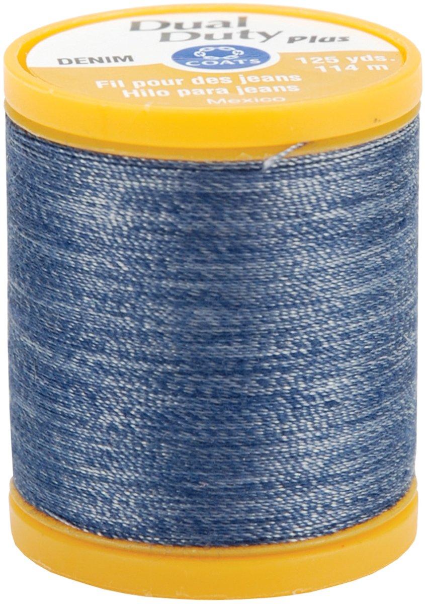 COATS & CLARK Dual Duty Plus Denim Thread, 125-Yard, Denim Blue S976-4665