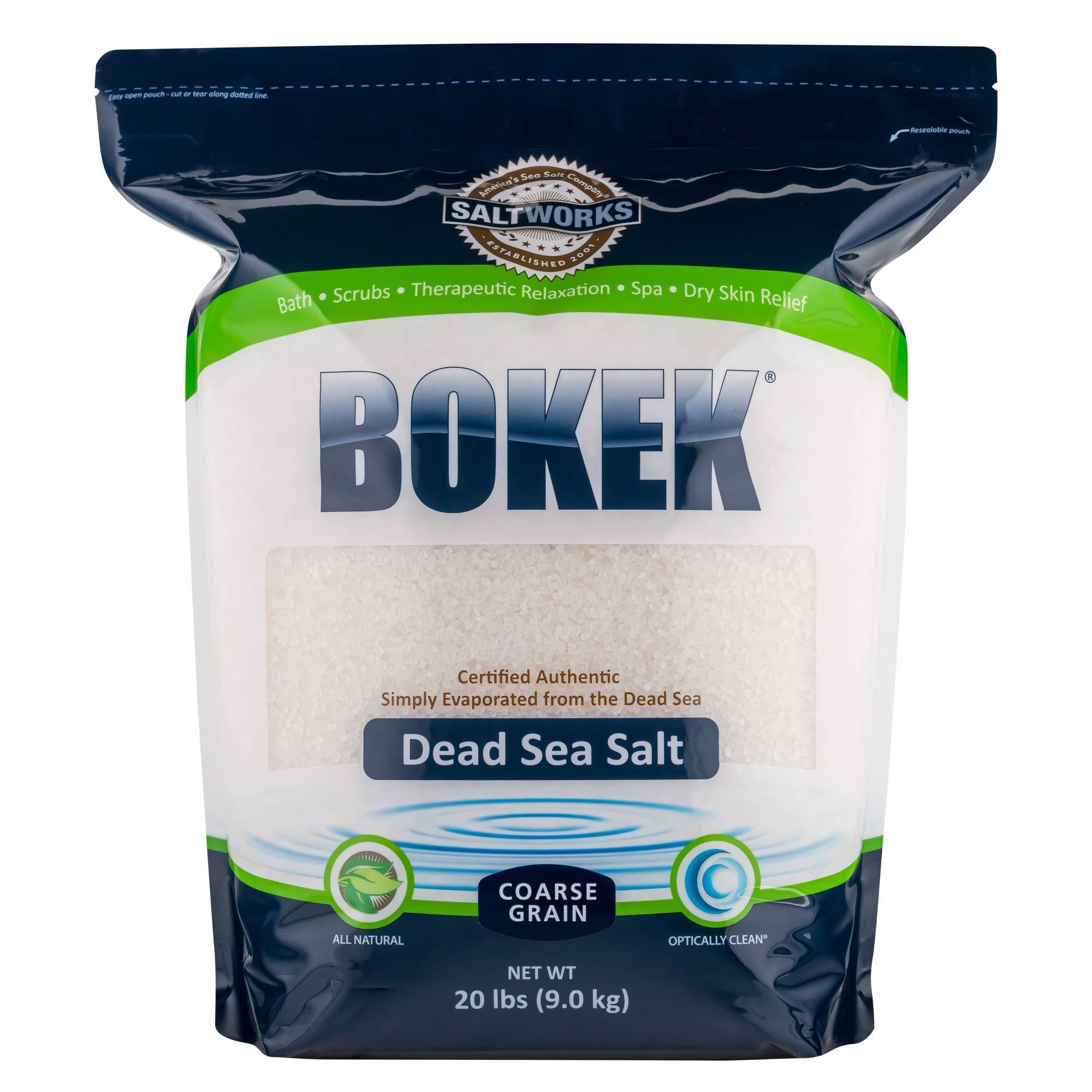 Bokek Dead Sea Salt, Coarse - 20 lb Bag