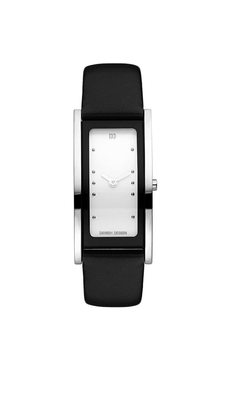Danish Design Damen-Armbanduhr Analog Leder Schwarz DZ120045