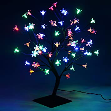 Christmas xmas led lights pre lit cherry blossom bonsai tree christmas xmas led lights pre lit cherry blossom bonsai tree indoor outdoor multi colour mozeypictures Images