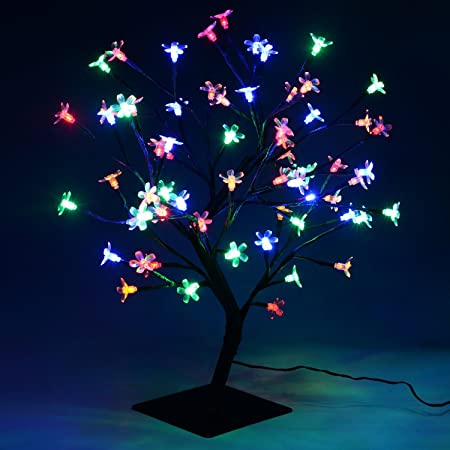 Christmas xmas led lights pre lit cherry blossom bonsai tree indoor christmas xmas led lights pre lit cherry blossom bonsai tree indoor outdoor multi colour workwithnaturefo