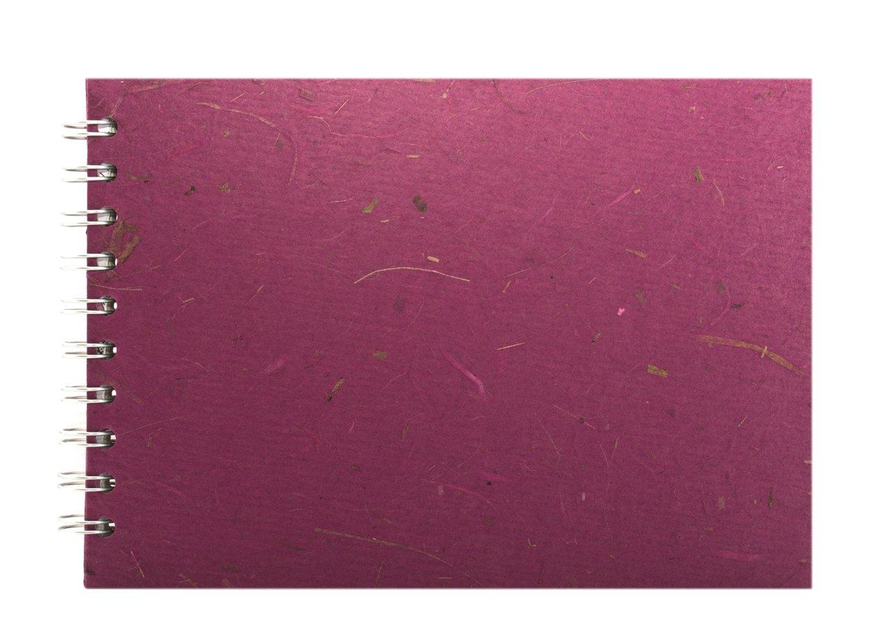 Cuaderno de dibujo color frambuesa Pink Pig Posh Banana Pig A5, apaisado