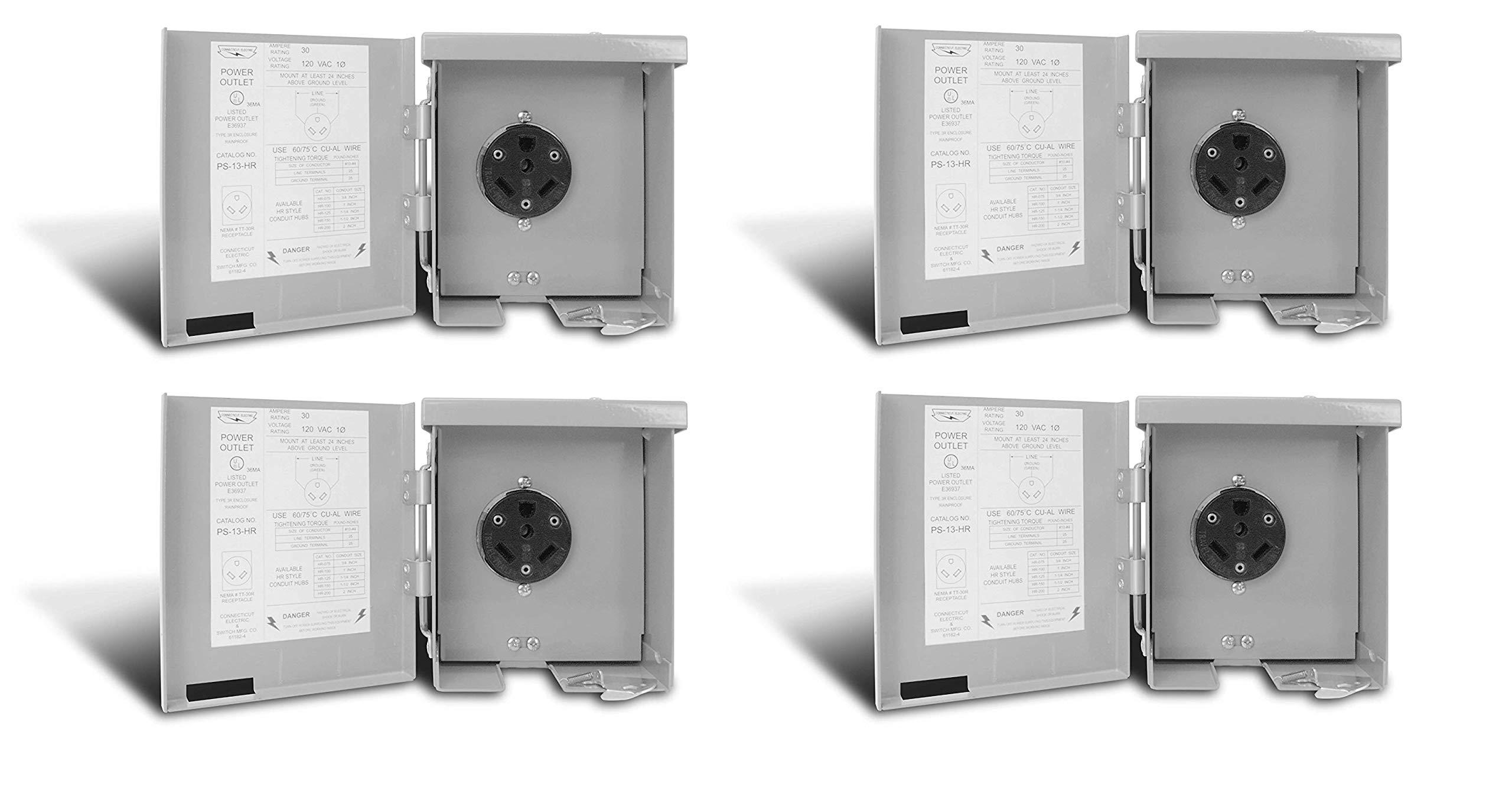 Connecticut Electric CESMPS13HR 30-Amps/120-Volt RV Power Outlet (Pack of 4)