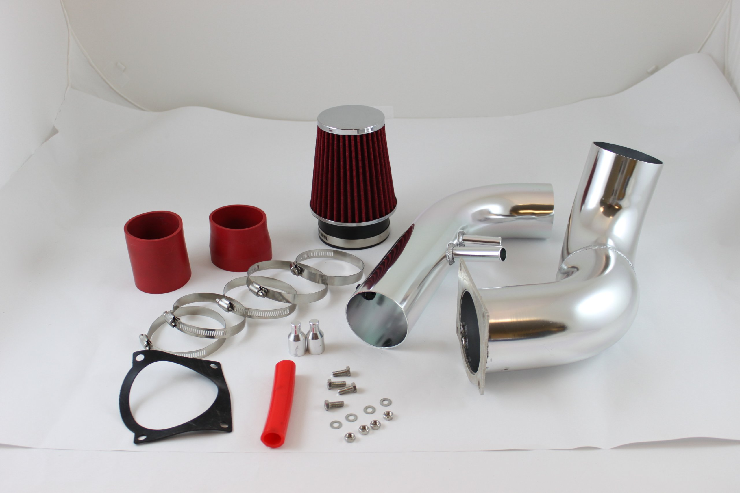 Velocity Concepts 3.5'' Red Cold Air Intake Induction Kit + Filter For 96-04 Ford Mustang 4.6L V8 N/A Engine