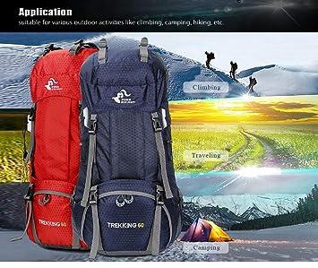 60L Waterproof Climbing Hiking Backpack Rain Cover Bag Camping Mountaineering  Backpack Sport Outdoor Bike Bag ( a64aa10a00