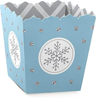 product image for Big Dot of Happiness Winter Wonderland - Party Mini Favor Boxes - Snowflake Holiday Party and Winter Wedding Treat Candy Boxes - Set of 12