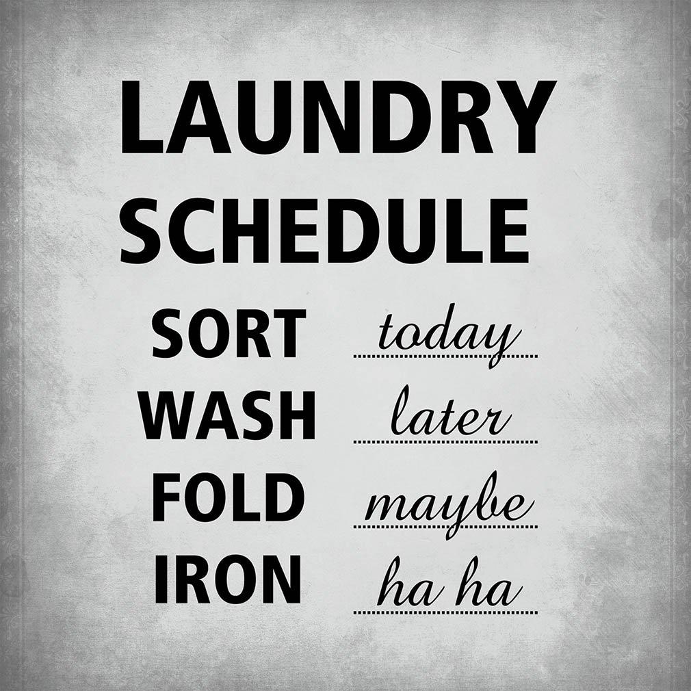 Fastasticdeals Calendario de lavandería Funny Home - Cartel ...
