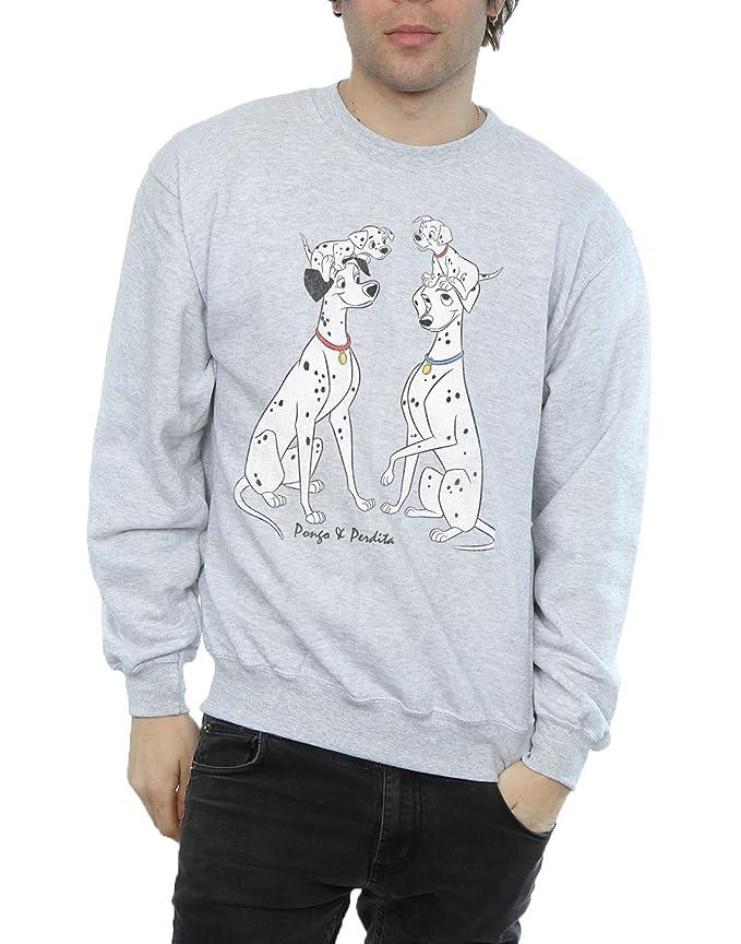 Disney hombre 101 Dalmatians Classic Pongo and Perdita Camiseta n05cBryh