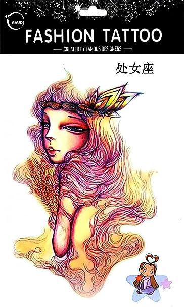 Tatuajes Temporales Para Diferentes constelación Virgo de 12 ...