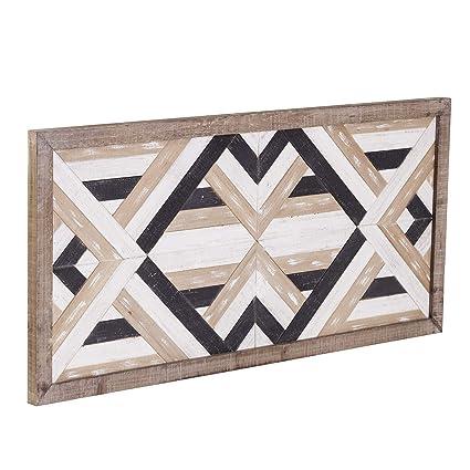 Amazon Com Geometric Wood Wall Art Wooden Geometric Shapes