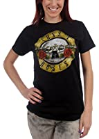 Guns N Roses - - Junge Frauen Used-Look-Kugel T-Shirt in Schwarz