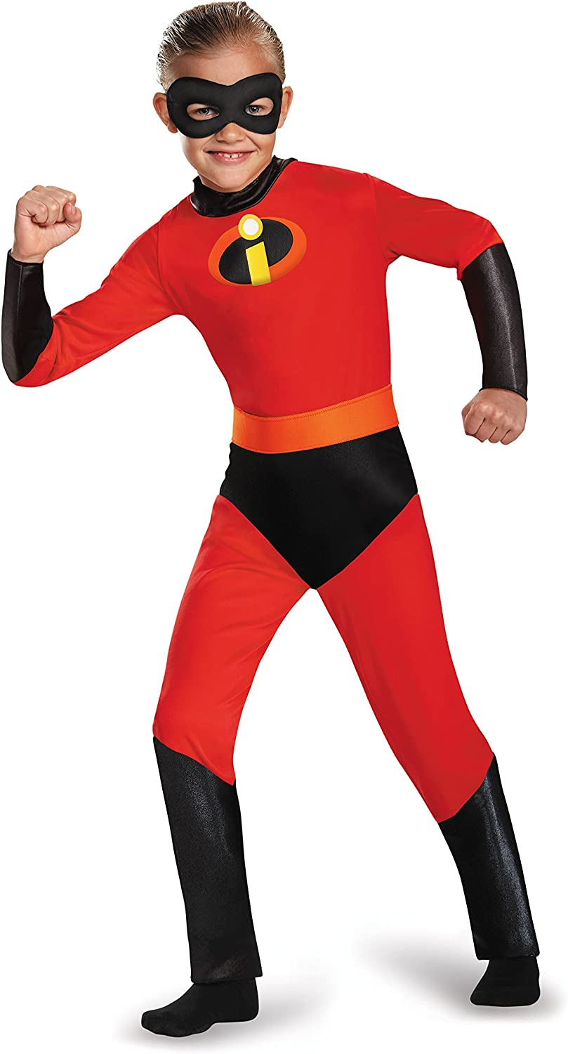 Amazon Com Disguise Dash Incredibles Child Costume With Metallic Logo And Detachable Belt Clothing
