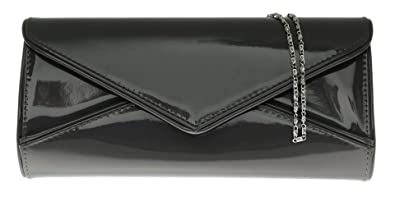 Girly HandBags Oversized Patent Clutch Bag Glossy Evening Designer ...