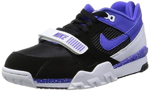 13ff3e1b6882 Nike Men s - Air Trainer 2 Premium QS - Black Persian Blue  Amazon ...